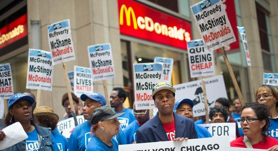 The decision will make it more difficult for McDonald's to battle 19 legal complaints filed by NLRB General Counsel Richard Griffin. | GETTY