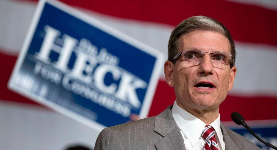 Rep. Joe Heck raised more than $300,000 in the first quarter of 2015 for his House committee and had just under a million dollars in cash on hand. | AP