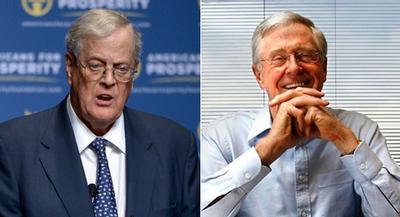 The Kochs and the 450 donors gathered for a three-day political and policy summit. | AP