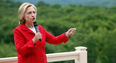 Clinton told reporters that she wouldn't comment on the pipeline because she had played a leading role in starting the process to review the project while she was secretary of state. | AP