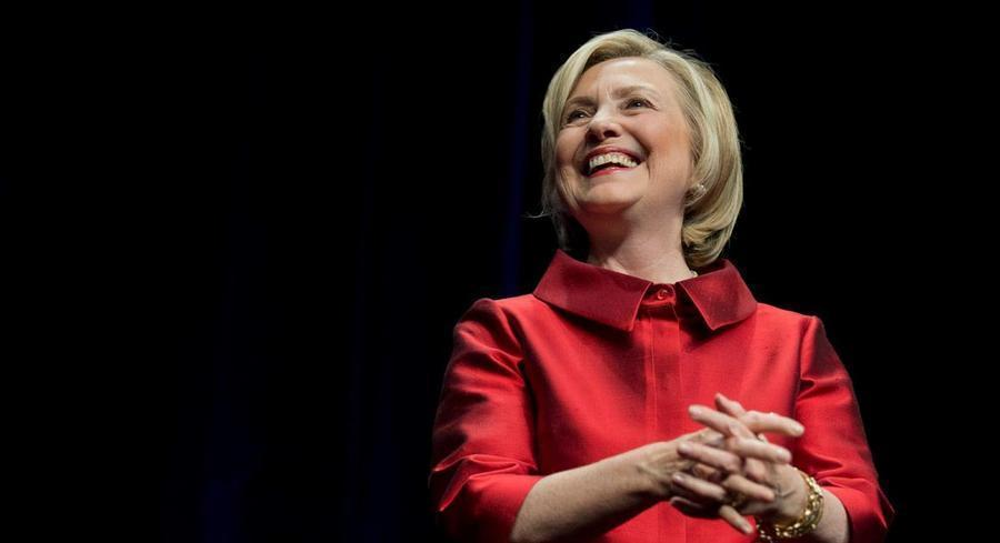 Hillary Clinton got to celebrate the fundraising numbers, tweeting that she's 'especially proud' that 91 percent of the donations were $100 or less. | AP