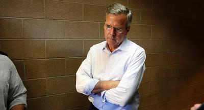 Comfortably near the top of the GOP field, Bush doesn't have to ratchet up the rhetorical red meat. | AP