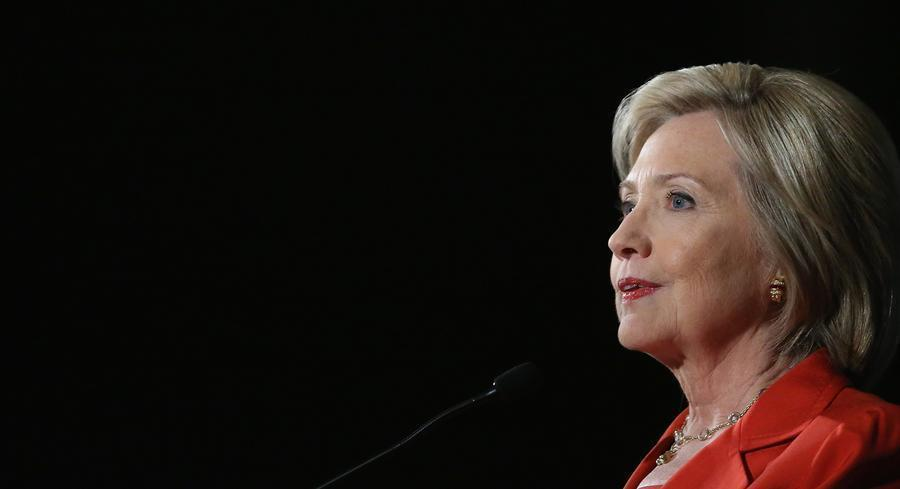 For Clinton, showing her conviction to fight climate change is likely to become a recurring theme in the campaign to show that she's will either be willing to work with a Republican Congress. | GETTY