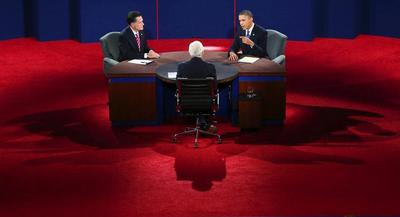 The group charges that the commission's inaction has led to staid, boring debates that become more about the moderator than what the candidates have to say. | AP
