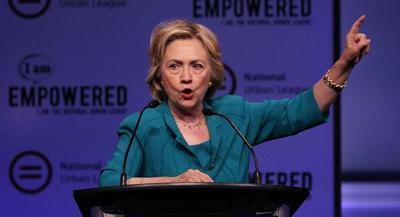 Hillary Clinton was the second of five presidential candidates speaking at the National Urban League conference. | GETTY