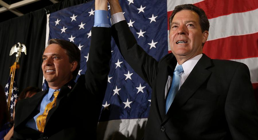 Kansas Gov. Sam Brownback's running mate, Lt. Gov. Jeff Colyer, wrote their campaign $500,000 checks on two occasions just before the end of fundraising periods during their reelection campaign last year.   AP