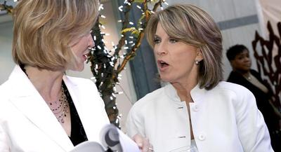 Kathleen Matthews has cleared the first bar for the contest: fundraising. | GETTY