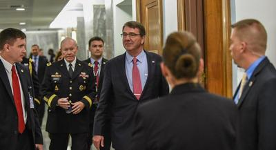 The hearing, intended to focus on the military aspects of the nuclear agreement, is part of a 60-day congressional review.   JOHN SHINKLE/POLITICO