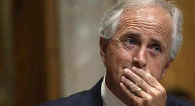 "In a series of interviews recently, Corker said he hasn't ""prejudged"" the deal. 