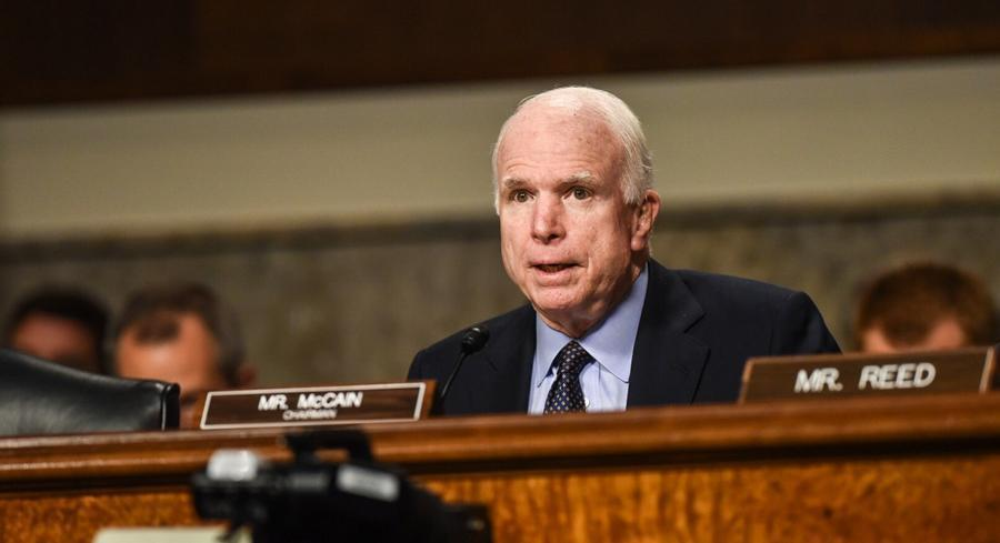 Sen. John McCain, who has been Obama's foremost foreign-policy critic, had several heated exchanges with Ash Carter that McCain described as not 'very pleasant.' | JOHN SHINKLE/POLITICO
