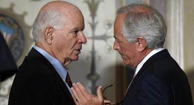 Sens. Ben Cardin and Bob Corker sent the later late Tuesday. | AP