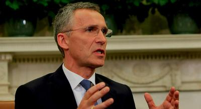 Jens Stoltenberg seemed to align with the U.S. position Tuesday. | GETTY