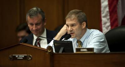 For now, Rep. Jim Jordan (R-Ohio), a leading conservative critic of the bank, sees prolonged expiration as yet another victory. | JOHN SHINKLE/POLITICO