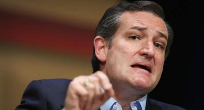 Sen. Ted Cruz said he would never 'throw rocks' at a member of his own party. | GETTY