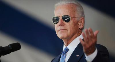 The billionaire real estate developer and entertainer tried to downplay Joe Biden's strengths. | AP