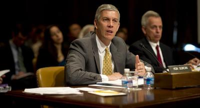 Arne Duncan says Congress should step up to strengthen accountability. | JOHN SHINKLE/POLITICO