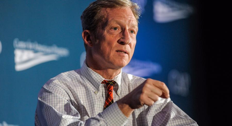 Steyer's comments might come as a surprise to some of his fellow environmental activists, who have dogged Clinton with demands that she oppose the project. | JOHN SHINKLE/POLITICO