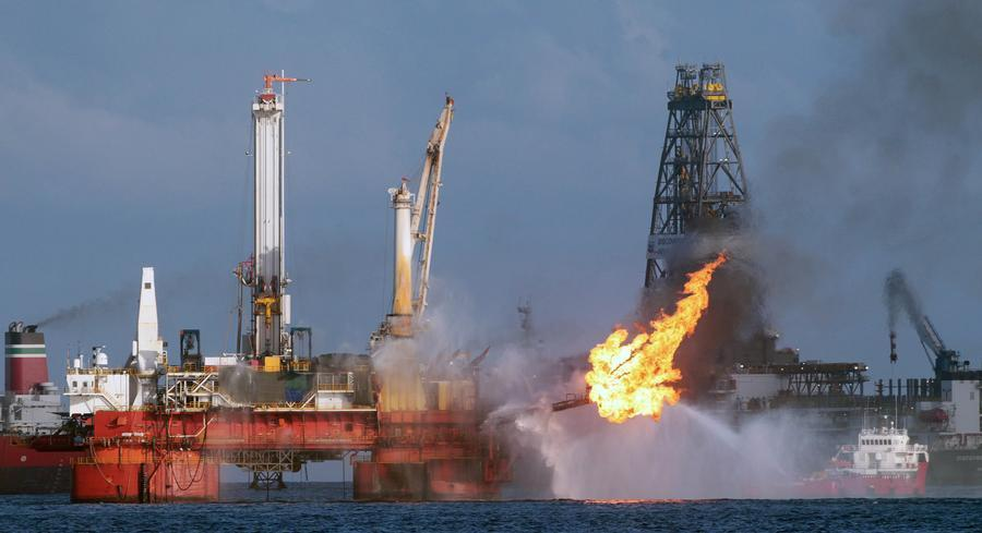 BP's Macondo well 40 miles off the Louisiana coast suffered a massive blowout in April 2010 and spewed more than 3 million barrels of oil into the Gulf. | AP