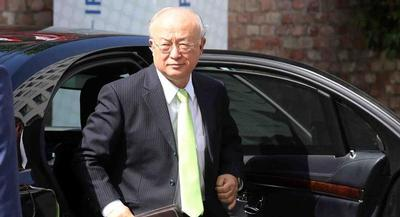 Yukiya Amano, director general of the International Atomic Energy Agency, will meet with Iranian President Hassan Rouhani on Thursday. | AP