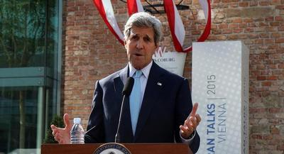 'We are not there yet. I emphasize that,' John Kerry told reporters. | AP