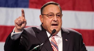 Paul LePage became the nation's first sitting Republican governor to endorse a candidate for president. | AP