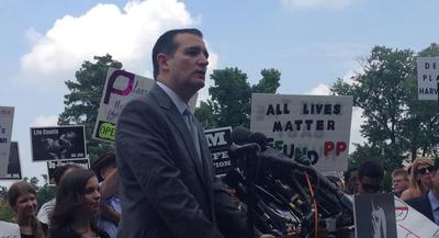 Sen. Ted Cruz Cruz spoke at an anti-abortion rally organized by Students for Life of America on Tuesday. | Eliza Collins/POLITICO