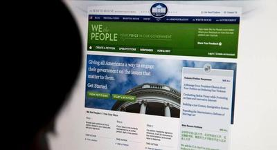 The White House announced Tuesday that the existing backlog of petitions that met the 100,000-signature threshold for a response had been cleared. | AP