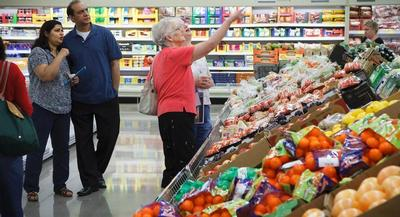 Inflation in the grocery store — which rose by 0.4 percent for the second month in a row in March — could end up pushing food policy onto the campaign trail this cycle. | AP