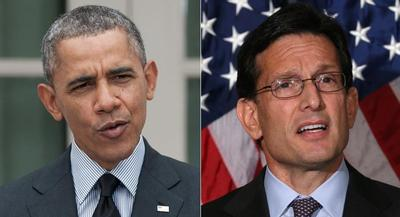Barack Obama called Eric Cantor just hours after the president criticized the House GOP for stalling immigration reform this year. | GETTY