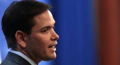 Sen. Marco Rubio garnered 31 percent support from Republicans and essentially tied Jeb Bush's 30 percent. | GETTY