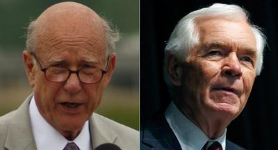 Both Pat Roberts and Thad Cochran are facing primary challengers who are trying to align the incumbents with the Obama administration. | AP