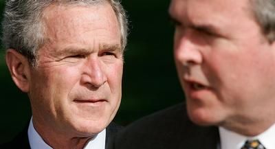 George W. Bush was described as introspective during the interview, which also touched on foreign policy. | GETTY
