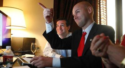Jason Johnson (right), who was Ted Cruz's general consultant in his 2012 Senate campaign, will be chief strategist for the 2016 presidential campaign. | AP