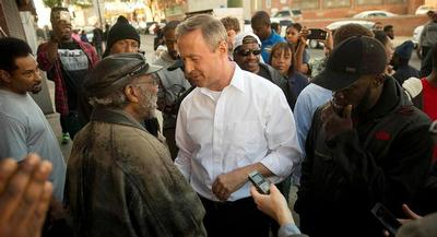Martin O'Malley rejected Chuck Todd's suggestion that plenty of money has been available to help inner cities. | AP
