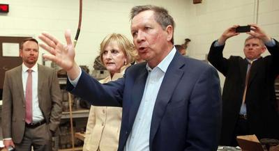 Gov. John Kasich wouldn't indicate how likely he is to run. | AP