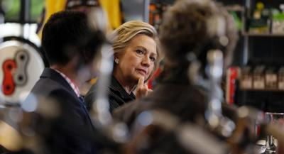 Hillary Clinton provided the State Department with 55,000 pages of emails. | AP