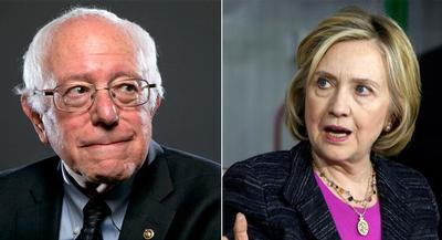 'I think it's hard not to acknowledge that Hillary Clinton is part of the establishment,' Sen. Bernie Sanders said.   GETTY
