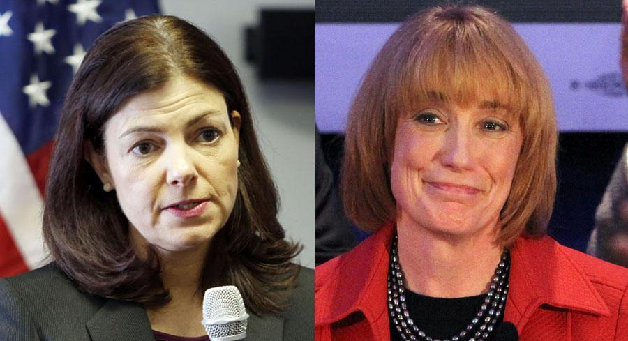 New Hampshire Sen. Kelly Ayotte and Gov. Maggie Hassan would be in a dead heat if the Democrat opts to challenge Ayotte in 2016. | AP