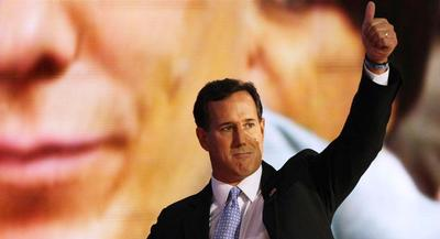 Santorum faces steeper odds this time around in a field that is more crowded and better-credentialed. | AP
