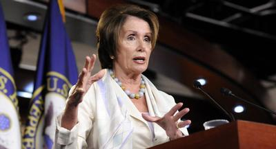 House Minority Leader Nancy Pelosi during a weekly news conference in Washington, D.C. on July 10, 2014. | MEREDITH MILLER/POLITICO