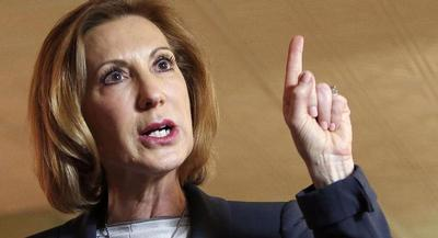 Carly Fiorina makes unalloyed criticism of Clinton a staple of her stump speeches. | AP