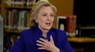"""You know where I stand, and there can be no question about it,"" Clinton said forcefully. 