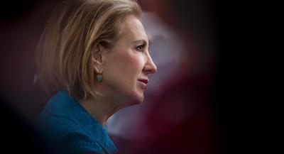 Carly Fiorina, who has never held elected office and struggles with name identification, faces an uphill battle for the nomination. | AP