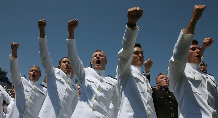 The U.S. Naval Academy is taking steps to elevate computer-savviness among the Navy's young officers. | GETTY