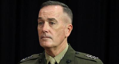 Dunford said he'd seen the polls and read the stories about Americans' views on Afghanistan, but that the stakes of failure were too high to leave without a proper transition. | AP