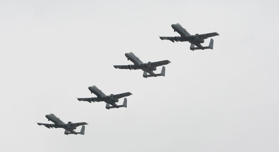 Retiring batches of several different aircraft, rather than divesting the entire fleet of A-10 Warthogs, would risk the Air Force's ability to handle all of its missions. | AP