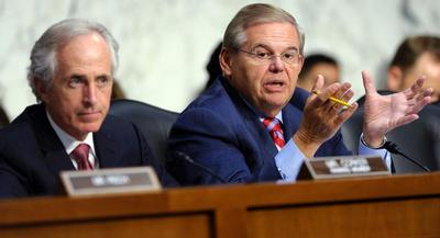 Senate Foreign Relations ranking member Bob Corker and Chairman Bob Menendez drafted the sanctions. | AP