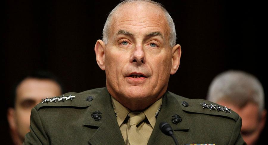 Marine Gen. John Kelly told reporters at the Pentagon that American drug seizures are steadily declining year over year as the number of military units available to him decreases amid budget cuts. | AP