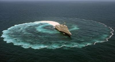 The Navy plans to buy only three of the Littoral Combat Ships next year but intends to have Lockheed Martin build two and Austal USA one. | AP