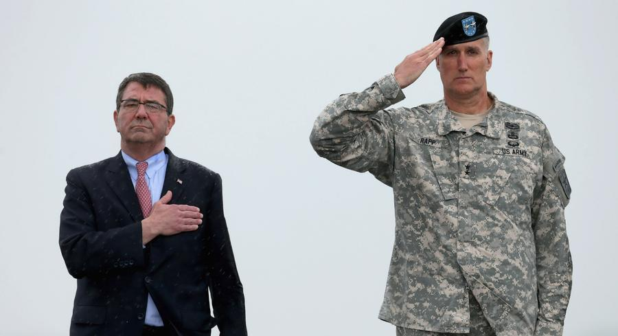 Ash Carter already convened a second oath of office ceremony at the Pentagon for defense workers and family members. | GETTY